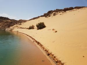 une plage désertique du lac Nasser