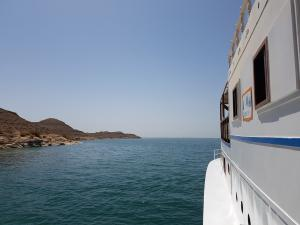 Navigation vers une crique sauvage du lac Nasser